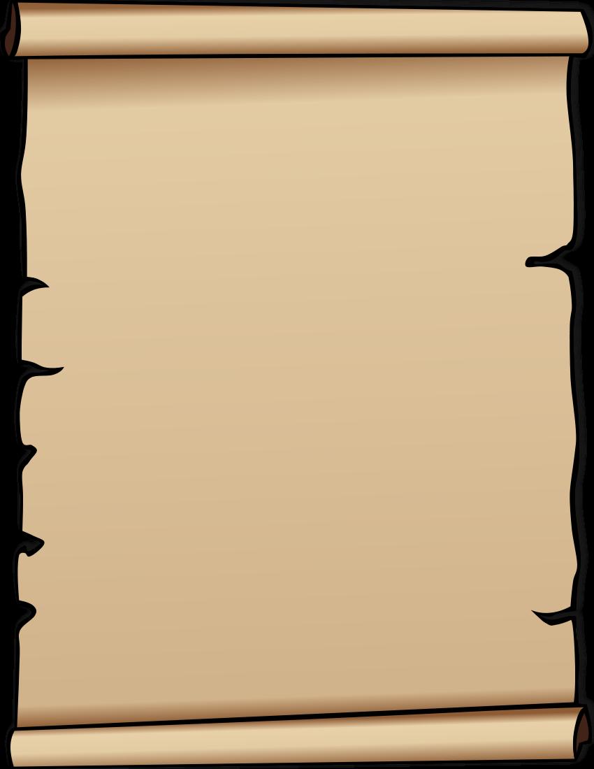 850x1100 Old Paper Clipart Clip Art Transparent Background