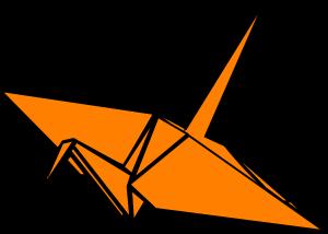 300x214 Origami Crane Clipart Paper Crane Clip Art