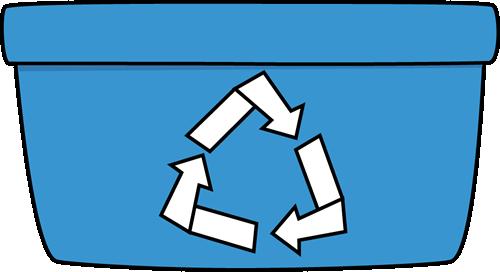 500x272 Paper Recycling Bin Clip Art