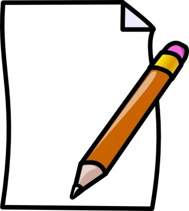 382x425 Pencil And Paper Clipart Free Download Clip Art
