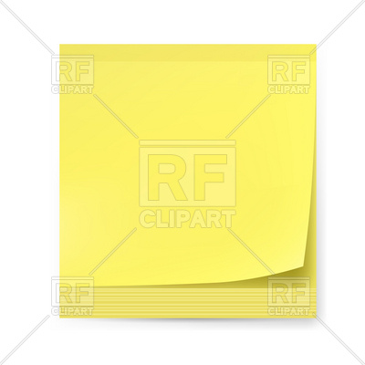 400x400 Blank Yellow Sticker