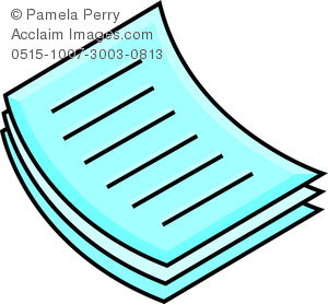 300x278 Clip Art Image Of A Stack Of Papers Icon