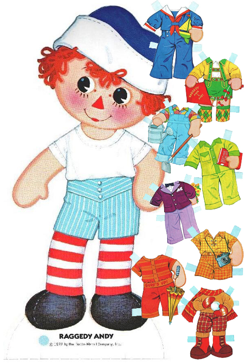 500x723 Doll Clipart Raggedy Ann And Andy
