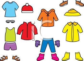 350x252 Royalty Free Clip Art Image Collection Of Seasonal Paper Doll Clothes