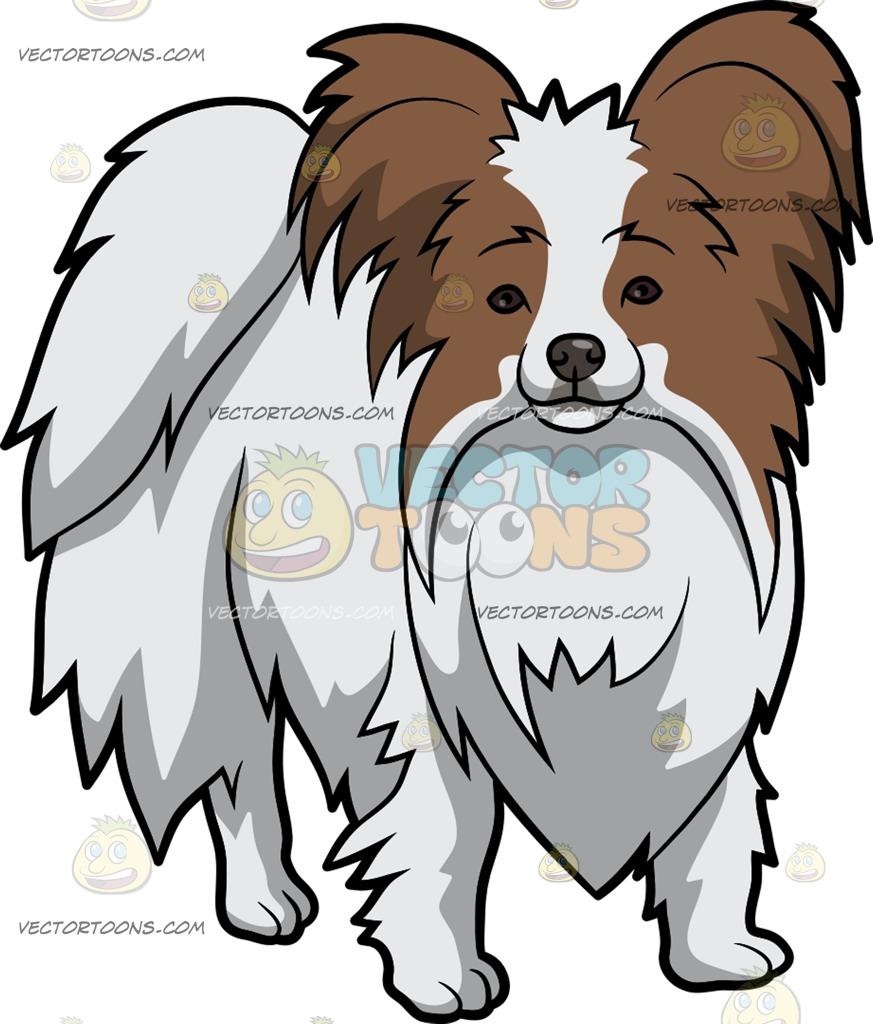 873x1024 A Cuddly Papillon Dog Cartoon Clipart Vector Toons