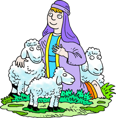 392x400 Lost Sheep Clipart