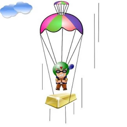 406x406 Golden Parachute Clipart
