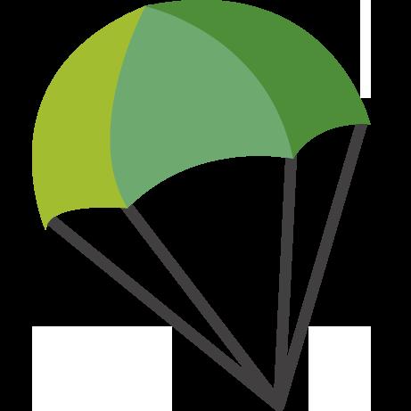 461x461 Parachute Clipart Green