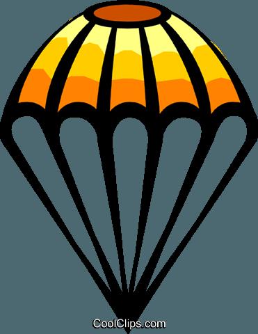 371x480 Parachute Royalty Free Vector Clip Art Illustration Tran0310