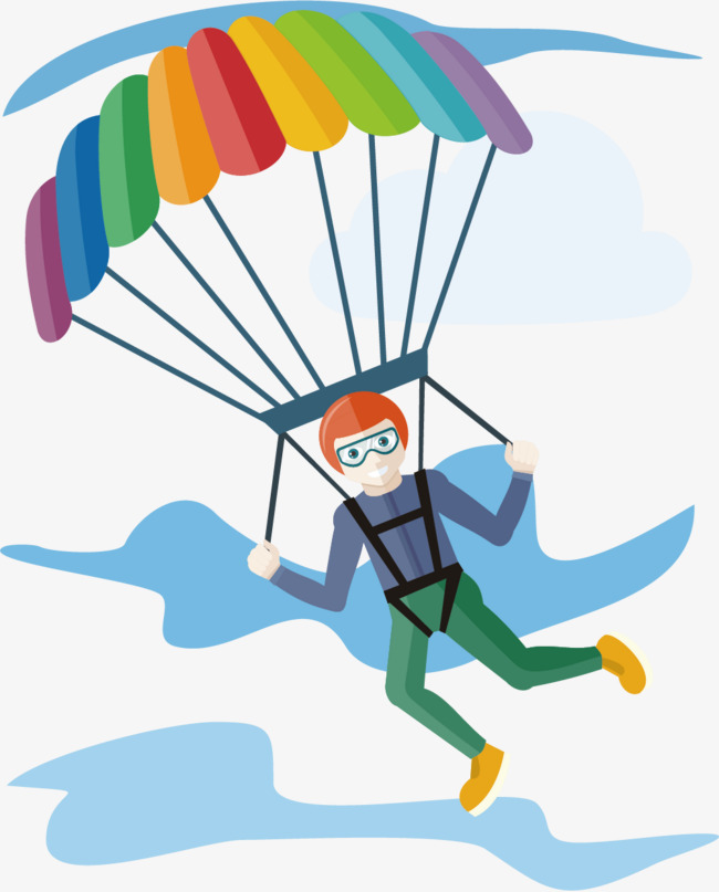 650x807 Parachute Sport, Movement, Parachute, Motion Poster Png And Vector