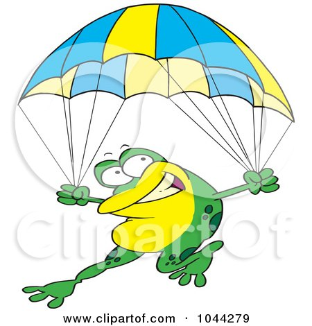 450x470 Royalty Free (Rf) Clip Art Illustration Of A Cartoon Skydiver