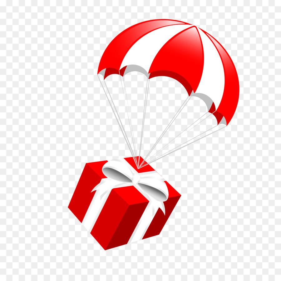 900x900 Santa Claus Parachute Gift Clip Art