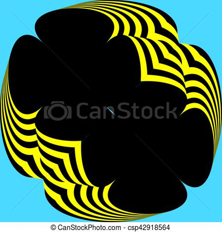 450x470 Abstract Parachute Yellow Black From Down Clip Art Vector