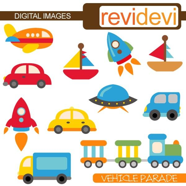 600x600 Cliparts Transportation, Digital Images, Boat, Rocket, Car. Cute