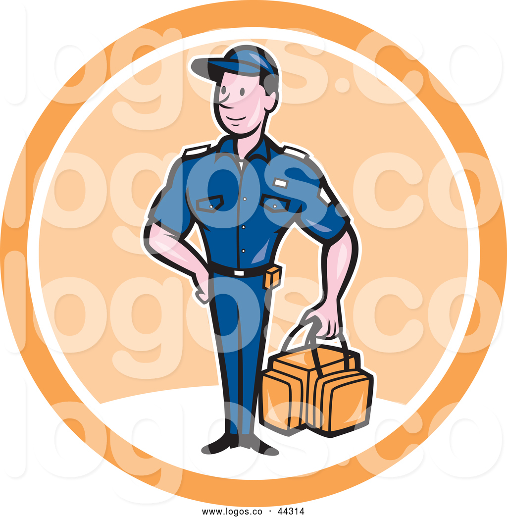 1024x1044 Logo Of A Smiling Paramedic Man Carrying First Aid Kit In A White