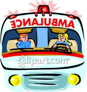 283x300 Two Female Paramedics Driving An Ambulance
