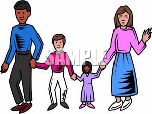 300x224 Parents Walking With Their Children