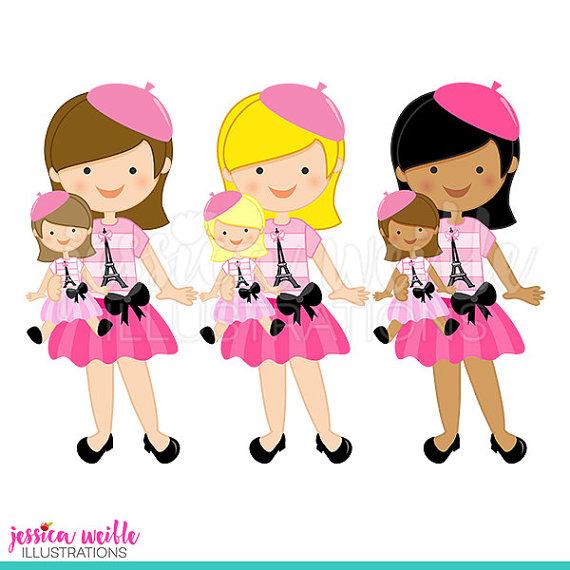570x570 Paris Dolly And Me Girl Cute Digital Clipart Cute Girl