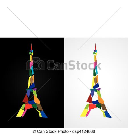 450x470 Eiffel Tower Abstract