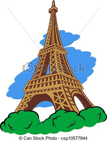 355x470 Eiffel Tower In Paris For Travel Design Eps Vector