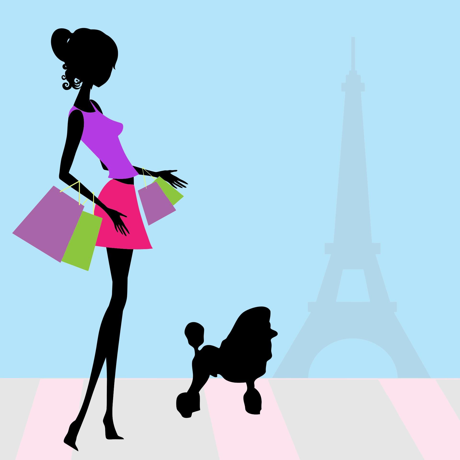 1920x1920 Fashion Woman Shopping Paris Clipart