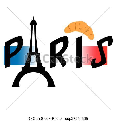 450x465 Eiffel Tower , Paris Vector Clipart