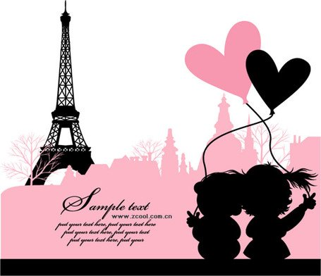 455x392 Free Love In Paris, France Clipart And Vector Graphics