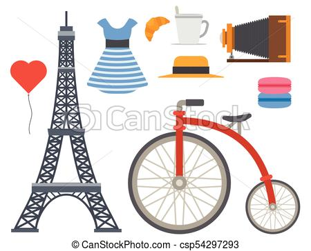 450x364 Paris Icons Vector Famous Travel Cuisine Traditional Modern Eps
