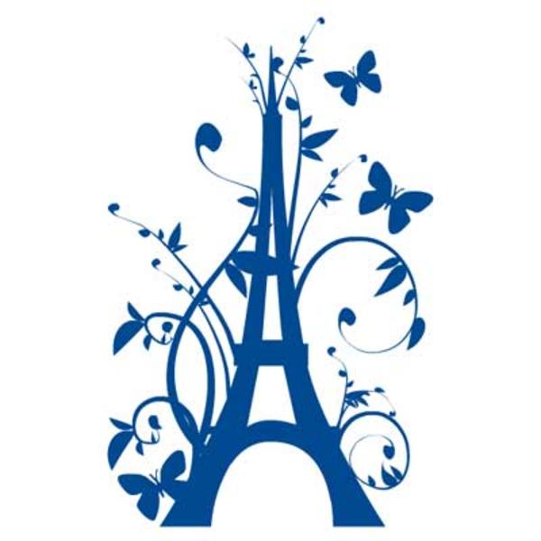 600x600 Sticker Geant Tour Eiffel Fleurie Free Images