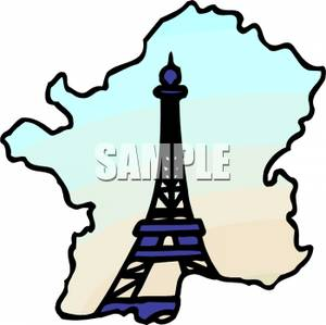 300x299 The Eiffel Tower And A Map Of France