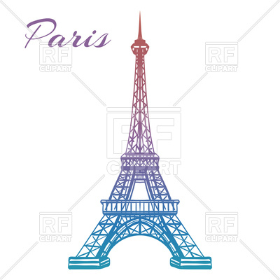 400x400 Colorful Hand Drawn Eiffel Tower Isolated On White Backgound