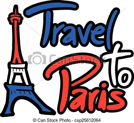 450x413 Creative Design Of Travel To Paris Clip Art Vector