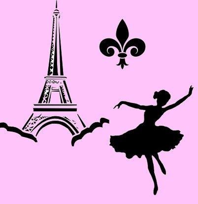 402x414 Eiffel Tower Clipart Stencil