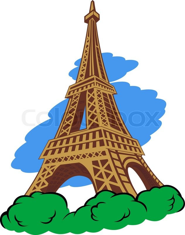 632x800 Eiffel Tower In Paris Stock Vector Colourbox