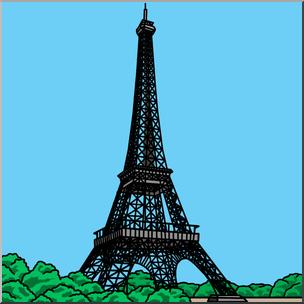 304x304 Clip Art Eiffel Tower Color I Abcteach