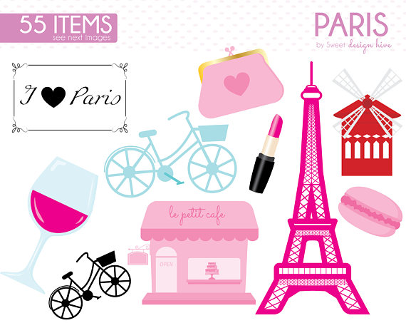 570x453 Paris Clipart France Clipart Vintage Paris Engagement