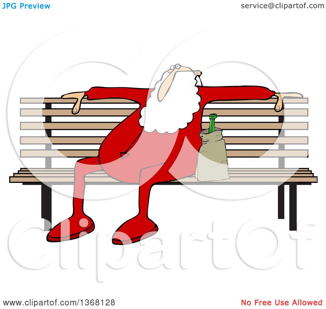 1080x1024 Clipart Of A Cartoon Christmas Santa Claus In His Pjs, Sitting