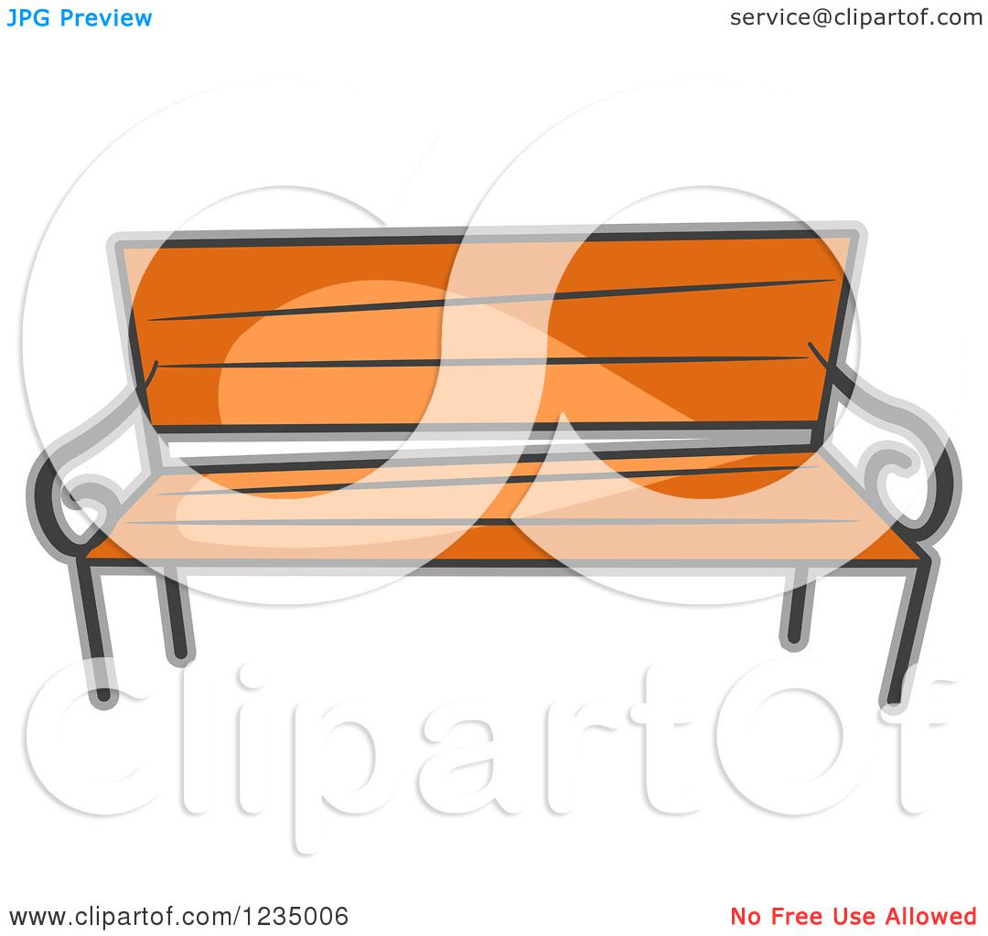 1080x1024 Clipart Of A Wood Park Bench