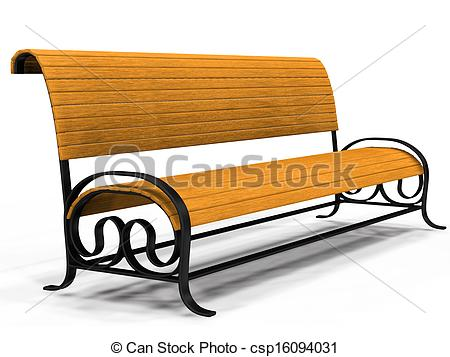 450x357 Illustration Of 3d Yellow Park Bench Over White Background