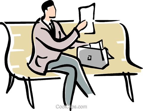 480x374 Man Sitting On A Park Bench Royalty Free Vector Clip Art