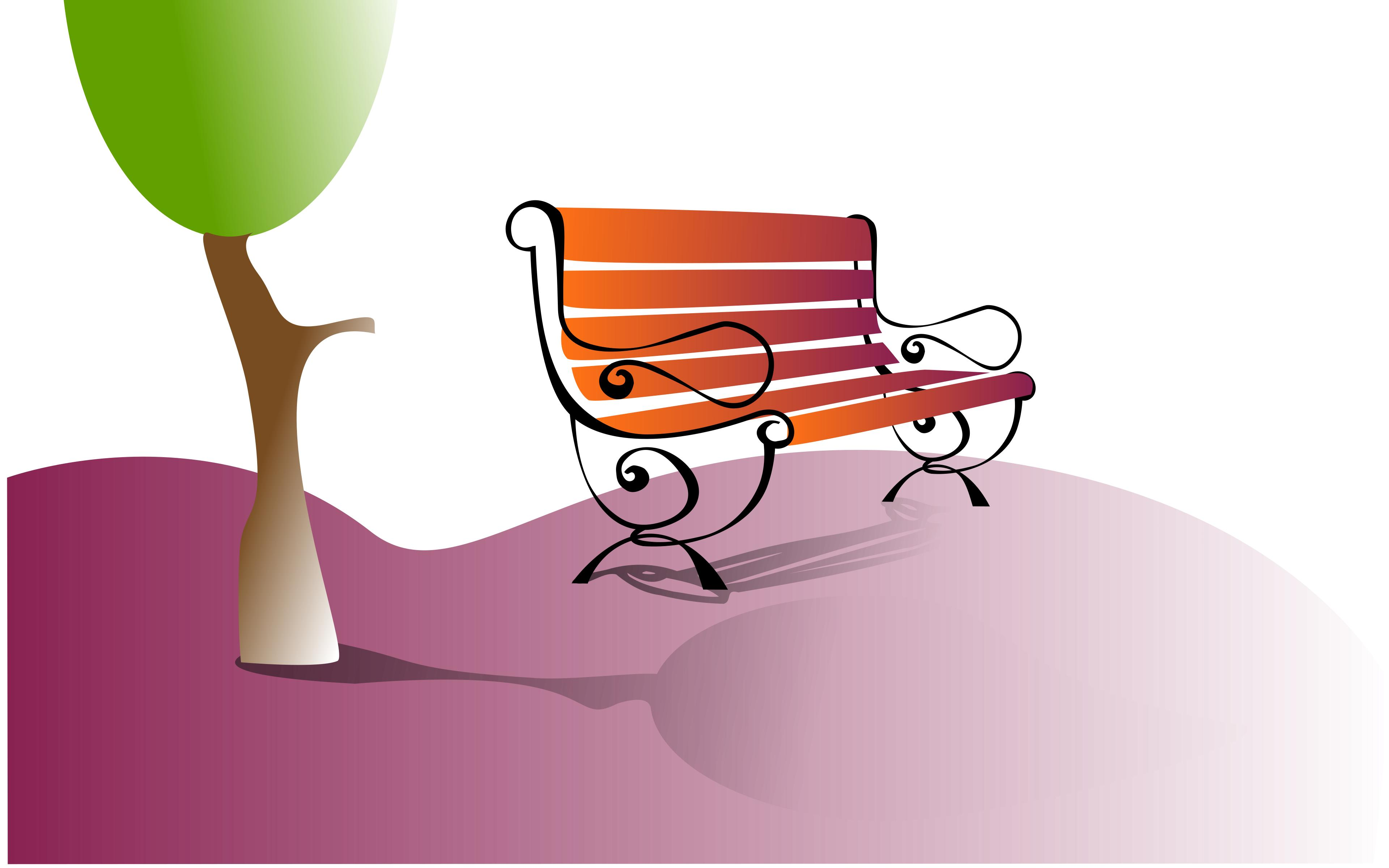 3840x2400 Park Bench Icons Png