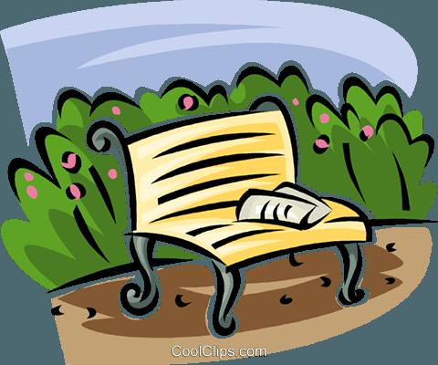 480x400 Park Bench Royalty Free Vector Clip Art Illustration Vc063141