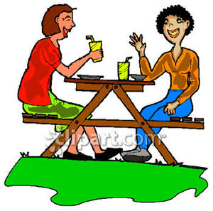300x297 Bench Clipart Picnic Area