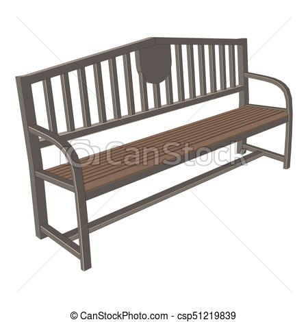 450x470 Bench Park Vector Vintage Isolated Background Wooden Vectors