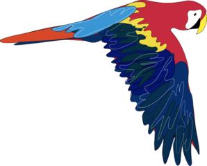 298x240 Flying Parrot Clip Art