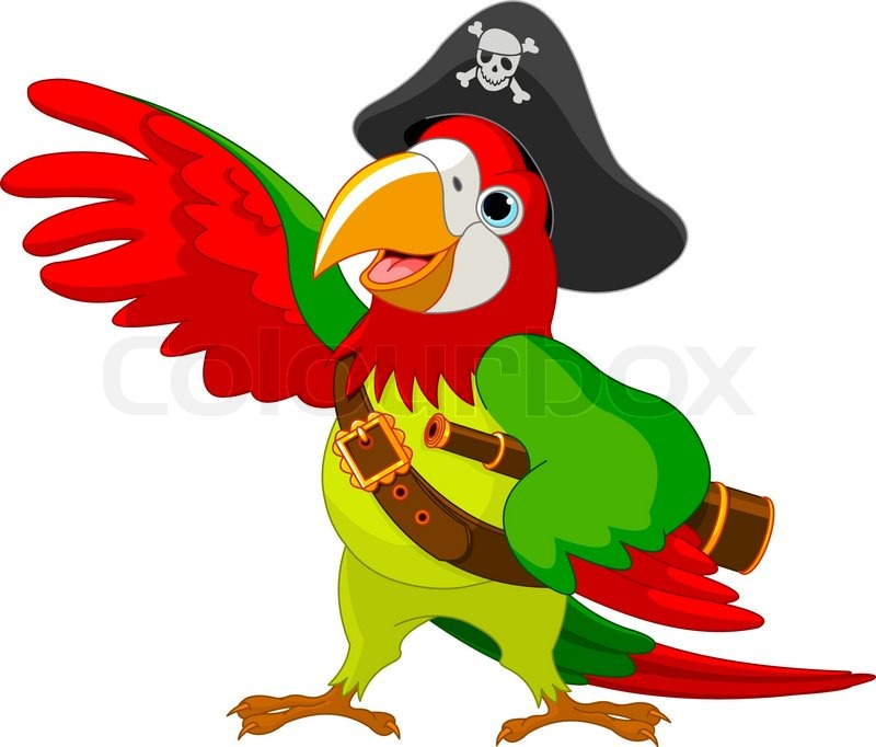 800x682 Illustration Of Talking Pirate Parrot Stock Vector Colourbox