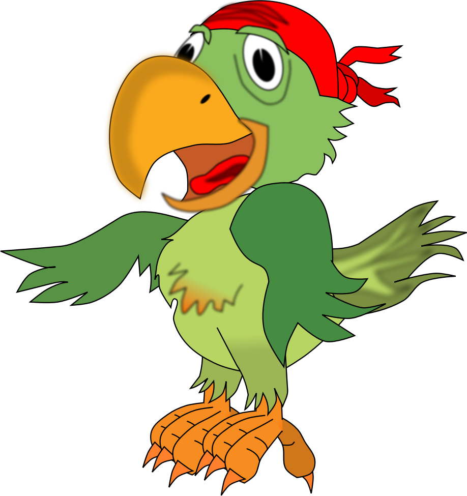 918x975 Pirate Parrot Clipart