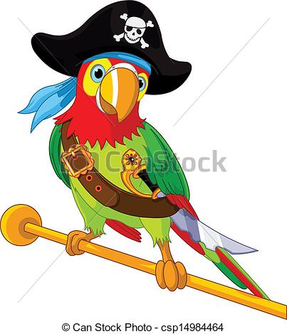 403x470 Pirate Parrot. Illustration Of Pirate Parrot Clip Art Vector