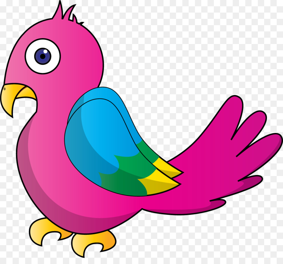 900x840 Bird Parrot Cartoon Clip Art