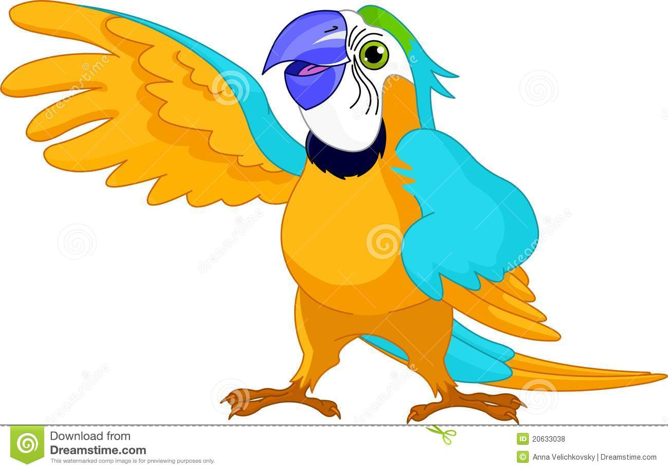 1300x916 Talking Parrot Clipart